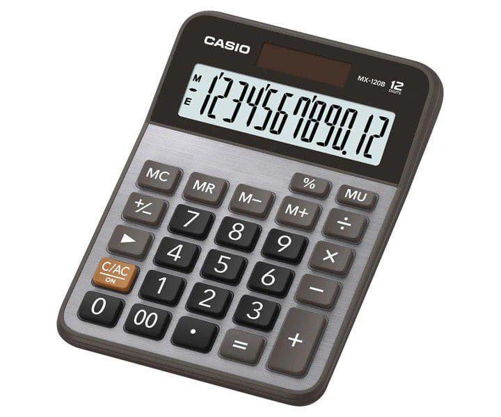 Calculadora de Mesa Pequena 12 Dígitos MX-120B-S4-DC Prata - Solar