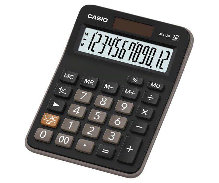Calculadora de Mesa Pequena 12 dígitos MX-12B-S4-DC Preta