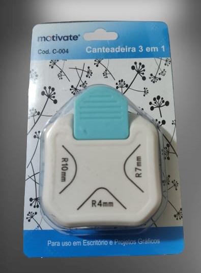 Canteadeira 3x1 - (10mm; 7mm; 4mm) Scrapbook