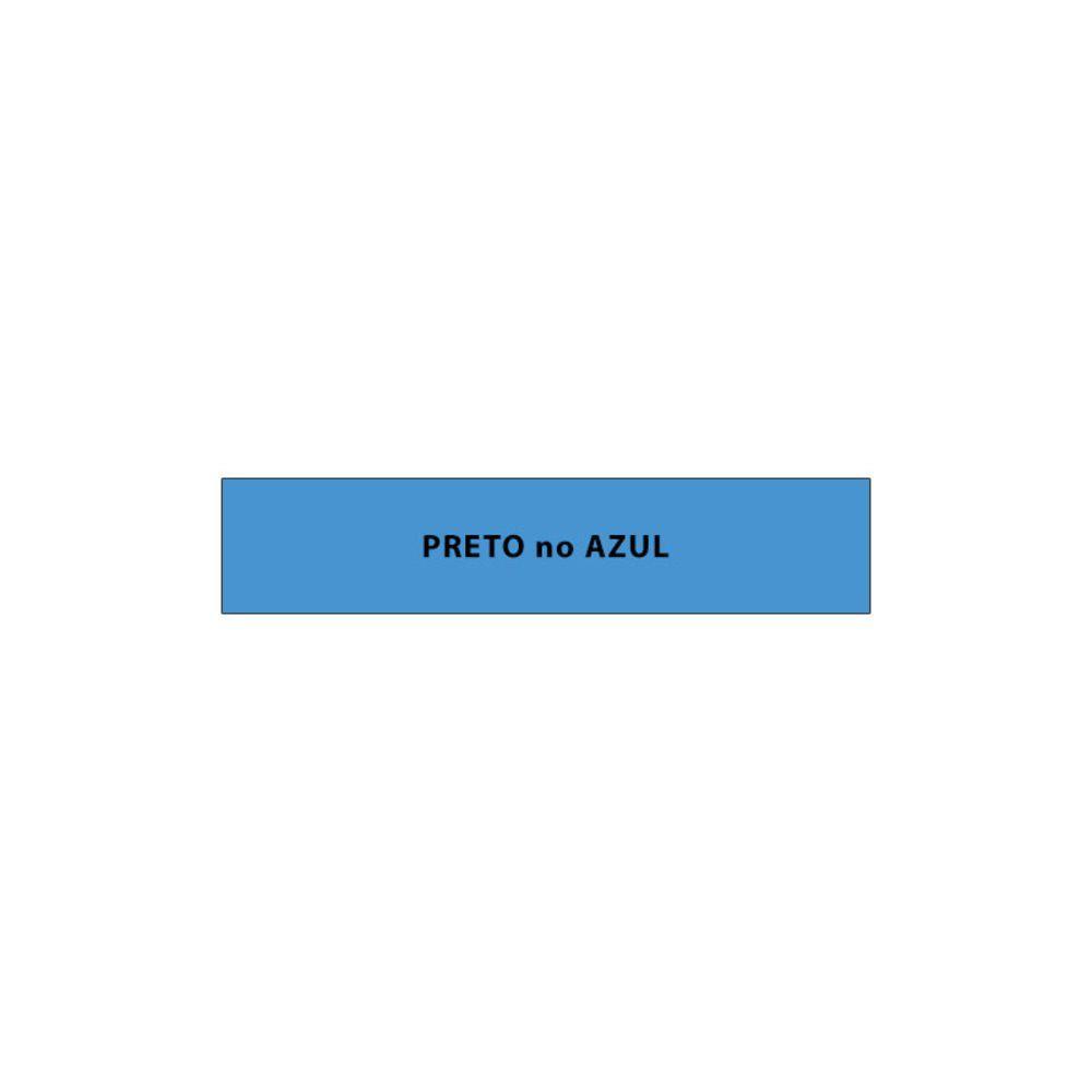 Fita de reposição para etiquetadora 9mm XR-9bu1-w-dj-5028 Azul - 8 metros