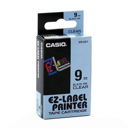 Fita de reposição para etiquetadora 9mm XR-9X1-w-dj Transparente - 8 metros