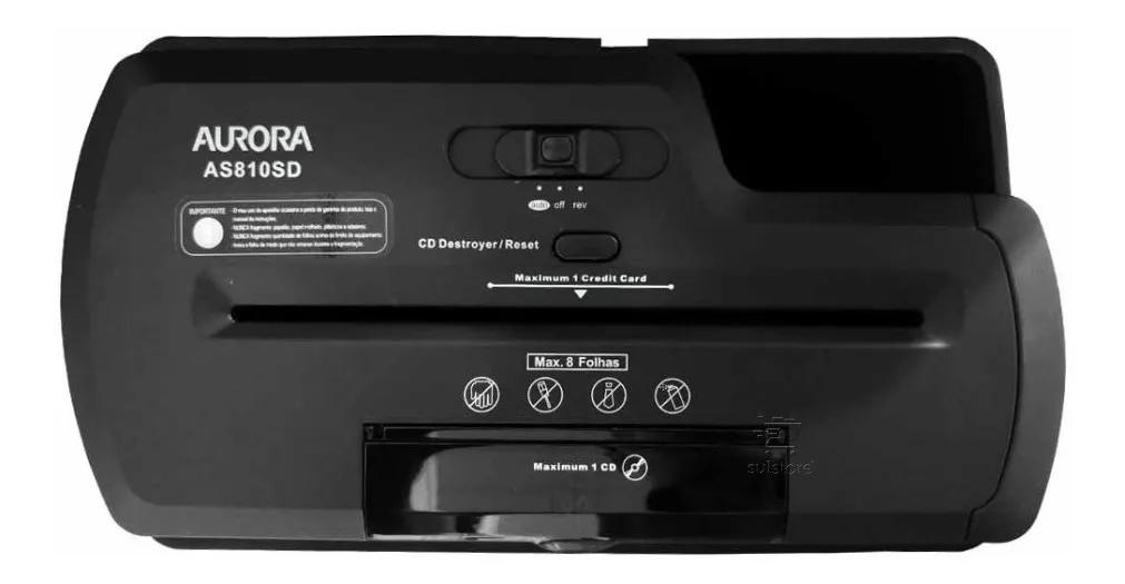 Fragmentadora de papel Aurora AS810SD - 8 Folhas