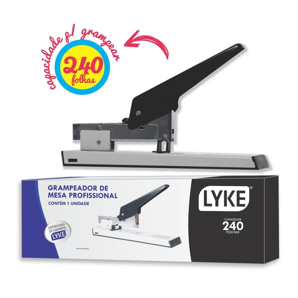 Grampeador 240 Folhas Profissional Lyke