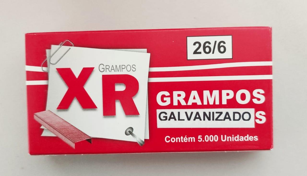 Grampo Galvanizado 26/6 com 5000 grampos - Caixa com 20 und