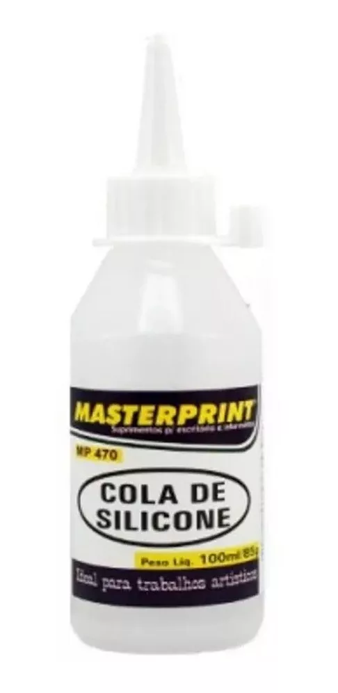 Kit Cola De Silicone Para Artesanato 100ml - 6 unidades