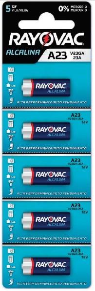 Kit com 100 Pilhas Alcalina Rayovac V23GA
