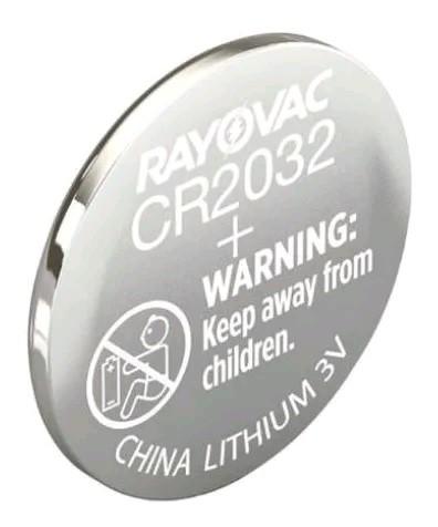 Kit com 6 Pilha de Lithium CR2032 3V - Rayovac