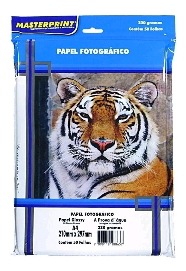 Papel Fotográfico Brilhante A4 - 230gr - 50 Folhas