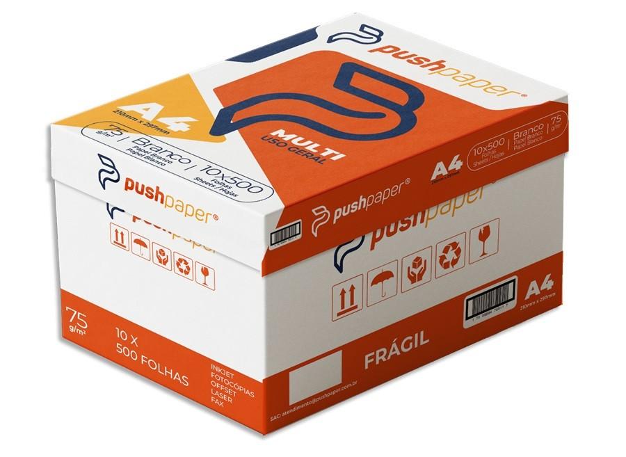 Papel Sulfite A4  Multi Branco 75g - Caixa Com 10 Resmas