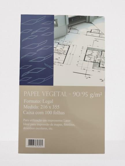 Papel Vegetal Legal 90/95gr 216x355 com 100 Folhas