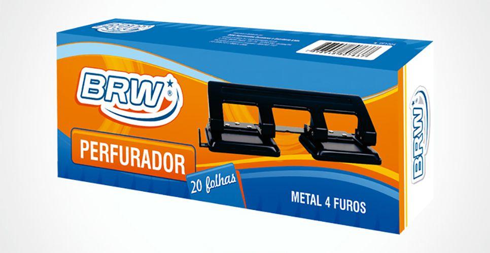 Perfurador de papel Metal 4 Furos - 20 Folhas