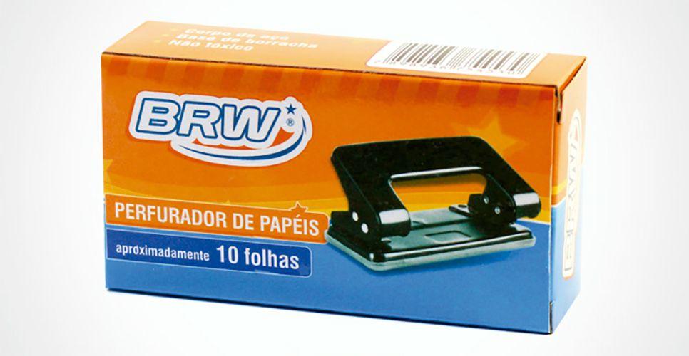 Perfurador de papel Metal 2 Furos - 10 Folhas