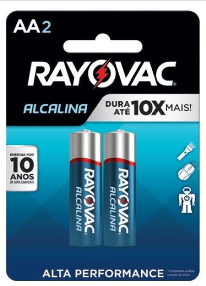 Pilha AA Alcalina Rayovac - 2 unidades