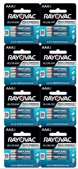 Pilha AAA Alcalina Rayovac - 16 unidades