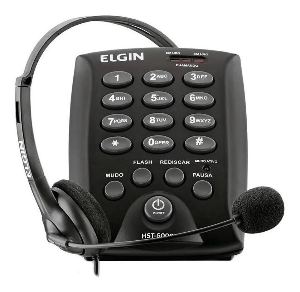 Telefone Headset HST-6000 - Preto