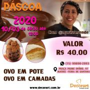 CURSO 10/03 PÁSCOA 2020 DE 08:30 ÀS 12:00 COM MARI RESENDE