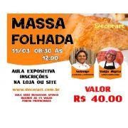 CURSO 11/03 MASSA FOLHADA 08:30 ÀS 12:00 COM SOLANGE E VANJA