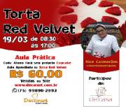 CURSO 19/03 08:30 ÀS 17:00 TORTA RED VELVET COM NICE GUIMARÃES