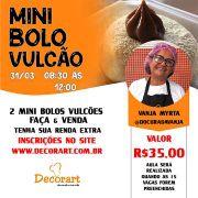 CURSO 31/03 MINI BOLO VULCÃO 08:30 ÀS 12:00 COM VANJA MYRTA