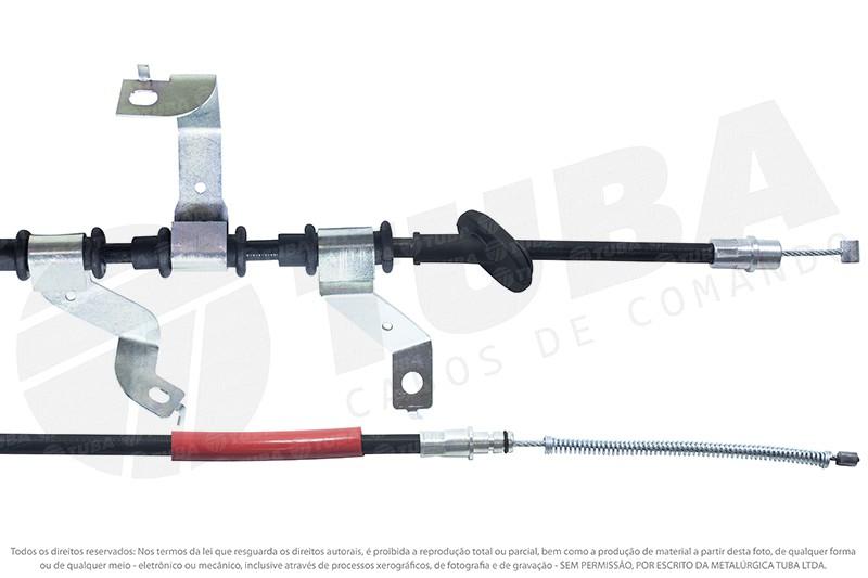Cabo freio mao Tcson 2.0 sem ABS (traseiro direito-1867mm)  25033