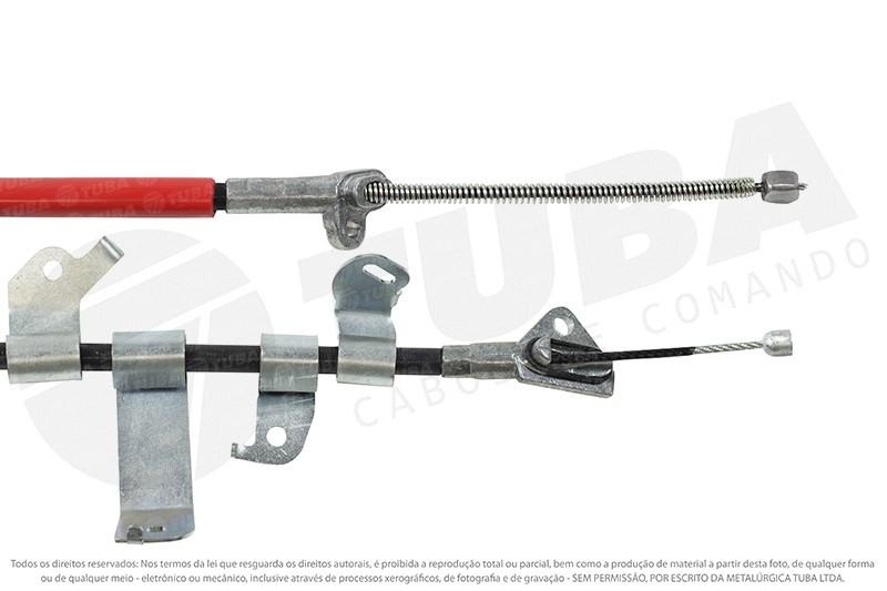 Cabo freio mao Toyota Etios Hatch  (traseiro direito-1600mm) 11113