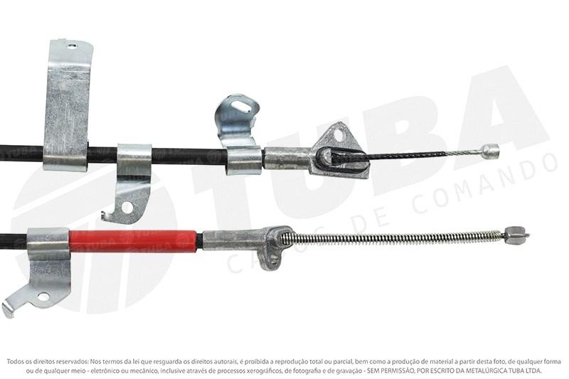 Cabo freio mao Toyota Etios Sedan (traseiro direito 1660mm) 11115