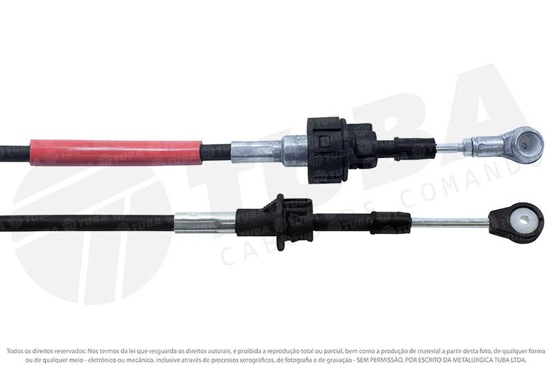 Cabo seletor Fiat Punto 1.6/1.8 16V 08/... (engate 1186-mm) 6630