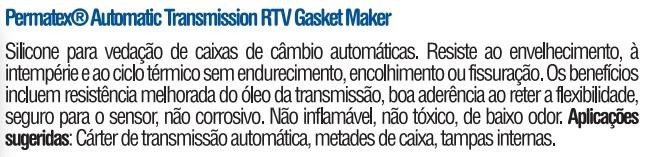 Cola silicone p/cambio automatico PERMATEX GASKET MAKER 85gr  4045