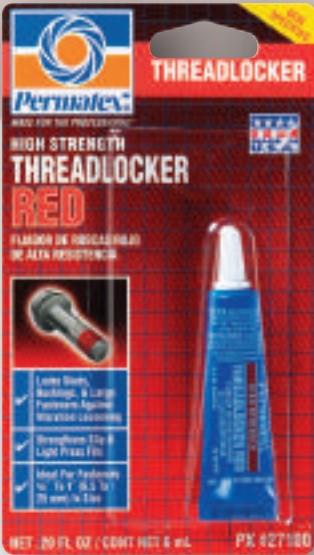 Cola trava alto torque vermelha (10 a 25mm) threadlocker red 6ml           430