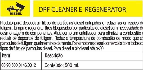 Limpa filtro de particulas diesel 500ml DPF Clear e Regenerator     4440