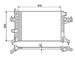 RADIADOR GM CORSA 1.0 1.4 1.8 MONTANA 1.4 1.8 8V ->7114.523