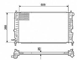 RADIADOR VECTRA 2.0 E 2.2 1997 ATE 2005 COM AR->7108.126