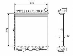 RADIADOR VW GOL PARATI 1.0 8V e 16V ->12508