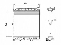 RADIADOR VW GOL PARATI SAVEIRO 1.6 1.8 2.0 ->7061.523