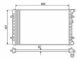 RADIADOR VW GOLF 1.6 1.8 2.0 BORA e AUDI A3 ->NT5729.523