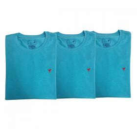 3 Camisetas Azul Claro