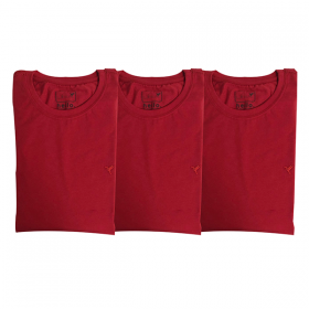 3 Camisetas Vermelhas