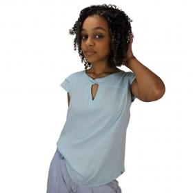 Blusa Líria de Verão Azul Bebê Torção