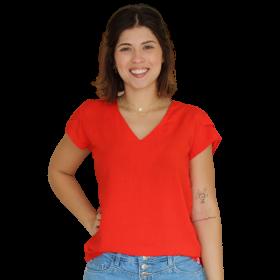Blusa Decote V Líria Vermelha