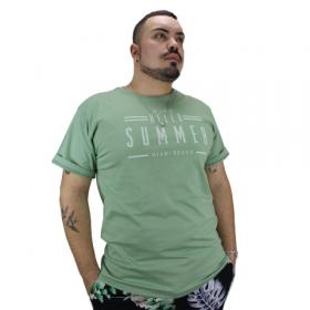 Camiseta Hello Summer Verde Mint