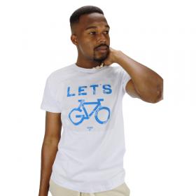 Camiseta Let's Bike Branca
