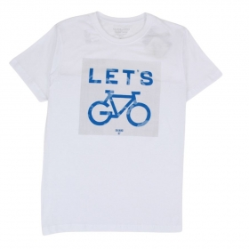 Camiseta Let's Bike Branca