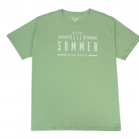 Camiseta Hello Summer Verde Mint