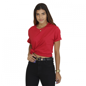 KIT 3 Camisetas ( Vermelha, Azul Marinho e Cinza)