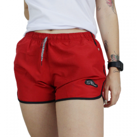 Shorts tactel Colors Verde Vermelho
