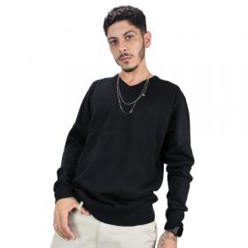 Suéter de Tricot Gola V Preto