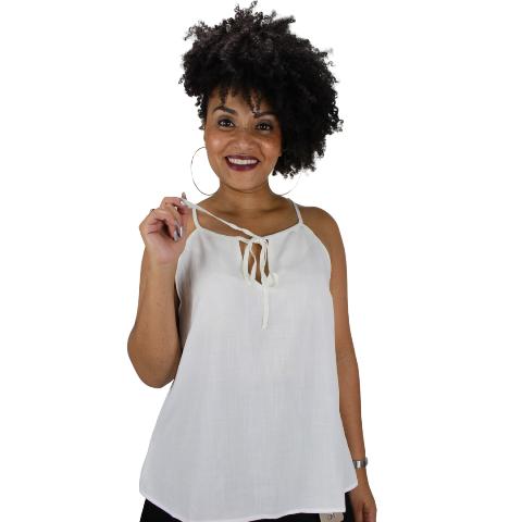 Blusa Amarração no Decote Branca