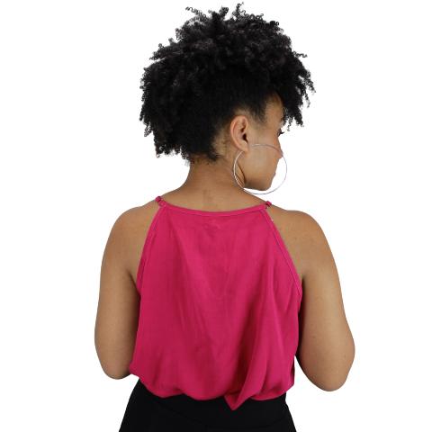 Blusa Amarração no Decote Pink