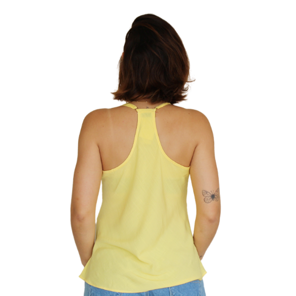 Blusa Costas Nadador Líria Amarela