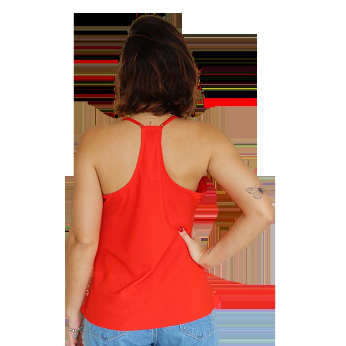 Blusa Costas Nadador Líria Vermelha